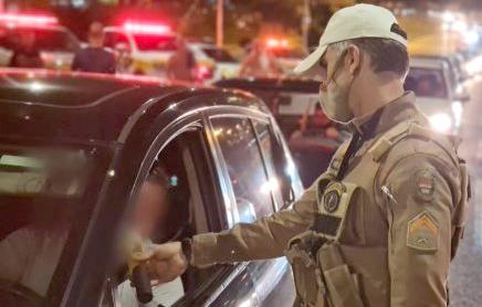 Polícia Rodoviária de Gravatal prende um motorista na Operação Lei Seca